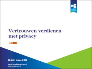 Vertrouwen verdienen met privacy